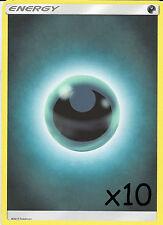 POKEMON: 10 DARKNESS ENERGY CARDS - NEW - UNUSED