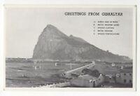 Greetings From Gibraltar Vintage Postcard 029c