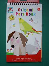 Origami animaux livre, imprimé animal feuilles, instructions et autocollant draps,