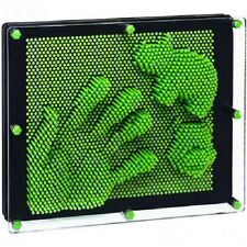 Pin Art Green Kids Novelty Fun Toy Plastic 3D Pinpression Gift New