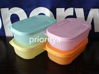 Tupperware Mini Freezer Mates 140mL Container Set of 4 New in Package Rare