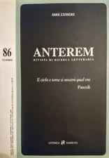 DIRE L'ESSERE ANTEREM RIVISTA DI RICERCA LETTERARIA 86 VI SERIE 1 SEMESTRE 2013