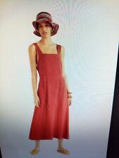 New Mango toast deep Red Linen midi Dress Size Xs Size 6 Asos size 8
