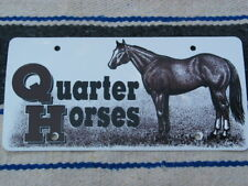 New Quarter Horse License Plate 4 Truck/Trailer~Equestrian, Racing,Trail Riding