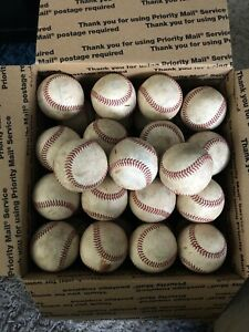 35 Used Minor League Baseballs