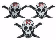 Friday the 13th JASON Mask Knife Logo Set of 3 PATCHES