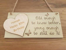 PERSONALISED ENGRAVED BIRTHDAY GIFT 18th 21st 30th 40th 50th 60 70 PLAQUE SIGN