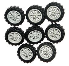 LEGO 8 MOTORCYCLE WHEELS NEW City Dirt Bike Wheels 50861 50862