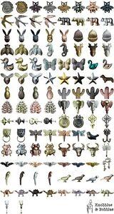 iron animal bug dinosaur cupboard knobs rabbit hare elephant nature drop pulls