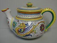 Deruta RAFFAELLESCO (SCALLOPED) Teapot with Lid BEST More Items Available
