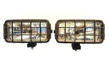 2x Fernscheinwerfer Halogen 12/24 180x86x76 Universal Fernlicht Schutzgitter SET