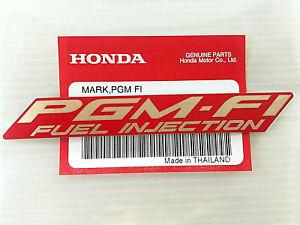 ORIGINAL Honda PGM FI FUEL INJECTION-11cm-Sticker-Logo-GOLDEN/ROT