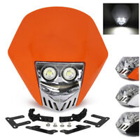 Motocross LED Headlight Headlamp For HONDA SUZUKI KTM YAMAHA Dirt Bike Enduro