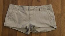 '12 *Aeropostale* Wmn's 1/2 Khaki Flat Stretch 4 Pkt Cuffed Mini Shorts