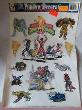 1994 Saban 13 Mighty Morphing Power Ranger Window Cling Stickers Decoration USA