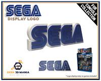 SEGA Display Déco pour Vitrine Collection de Jeu Vidéo Rétro Gaming Geek Stand