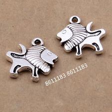 15pc Tibetan Silver Bracelet Charms Lion Animal Beads Accessories Jewelry  GP132