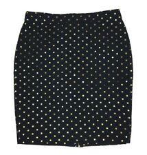 J.CREW Skirt The Pencil Skirt Metallic Jacquard Polka Dot Career Skirt Sz 10 NWT