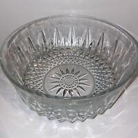 """Vintage ARCOROC FRANCE Crystal Starburst LARGE Serving Salad Bowl 9"""""""