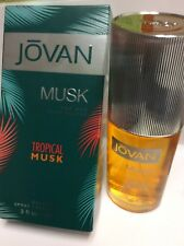 Jovan Tropical Musk by Jovan for Men 3.0 oz Cologne Spray Brand New.