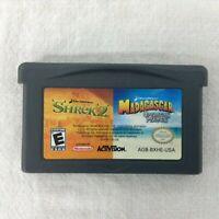 Tested Shrek 2 / Madagascar: Operation Penguin 2-in-1 (Nintendo GameBoy Advance