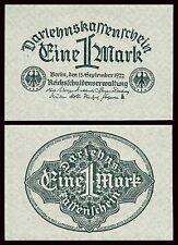 Alemania - Germany  1 Mark  15-9-1922   Pick 61a  SC = UNC