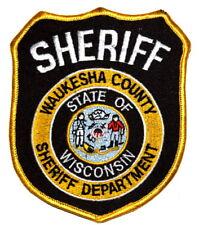 WAUKESHA COUNTY WISCONSIN WI Sheriff Police Patch STATE SEAL FARMER