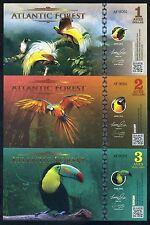 SET Atlantic Forest 1;2;3 Aves Dollars 2016 - 3 Note Bird Set