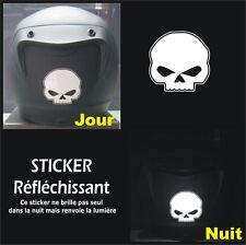 Sticker RETRO-REFLECHISSANTS SKULL - Harley HD - Tête de mort - 6cm x 6cm