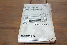 Asian Imports 1993 3rd Edition Snap-on Automobile Scanner Reference Manual