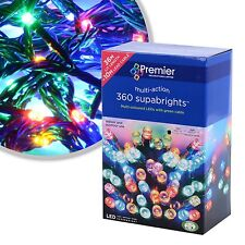 Premier 360 Multi Action Supabright LED Christmas Lights in Multi-Coloured 36m
