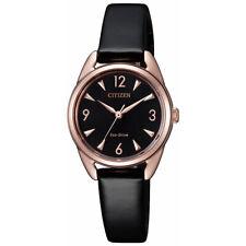 Citizen Eco-Drive Women's LTR Rose Gold Tone Case 27mm Watch EM0688-01E