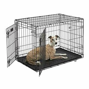 Dog Crate 1536DDU MidWest ICrate 36 Inches Double Door Folding Metal Dog Crat...