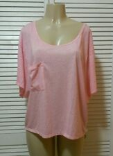 VICTORIA'S SECRET DOLMAN-SLEEVE TEE Pop Art Pink Large
