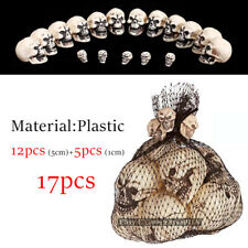 17PCS Plastic Resin Skull Horror Ghost Scary Halloween Home Party Decorative