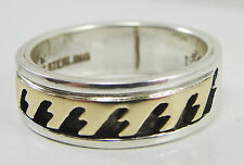Rhoda Jack Sterling Silver 14K Yellow Gold Two Tone Band Ring Size 6.25 Navajo
