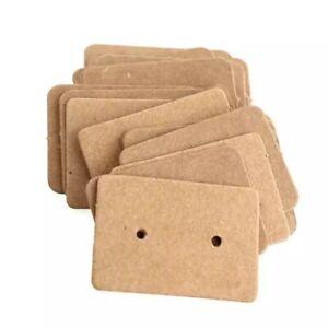 100 x Kraft Paper Earring Display Cards