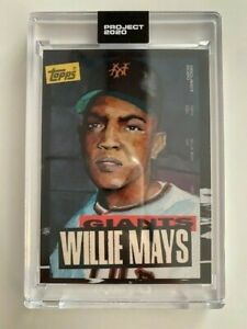 Topps Project 2020 Willie Mays Artist Jacob Rochester #101 PR 10,568 NY Giants