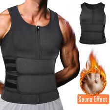 Men Neoprene Sauna Vest Sweat Body Shaper Waist Trainer Fat Burner Shapewear