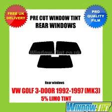 VW GOLF 3-DOOR 1992-1997 (MK3) 5% LIMO REAR PRE CUT WINDOW TINT