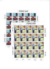1991 MNH Europa sheets, Faeroer, Färöer, Faroer, Faroe Islands, postfris