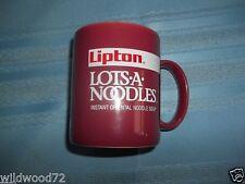 "VINTAGE Lipton Lots A Noodles advertising 4"" unused coffee cup / mug"
