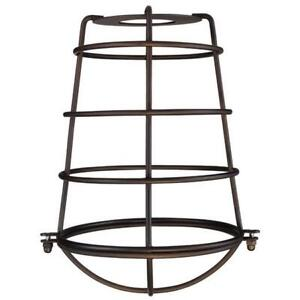 Westinghouse 8503300 8.18 in. Bronze Industrial Cage Neckless Metal Shade Pac...