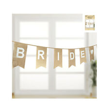 "Bunting Burlap Rustic ""BRIDE TO BE"" Hessian Bridal Shower Decorations"