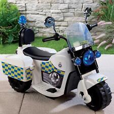 Police Ride on Kids Electric LARGE Bike 6V Forward, Reverse Ages 3+ Black F NEW