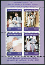 Chad 2019 MNH Prince Archie Royal Baby Harry & Meghan 4v M/S I Royalty Stamps