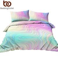 3Pcs Rainbow Teen Girls Bedding Comforter Duvet Cover Set Twin Full/Queen Size