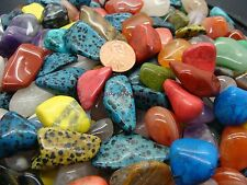 Size #5 - Large Tumbled Polished Gemstone Mix - 1000 Carats Lots + Free Gift