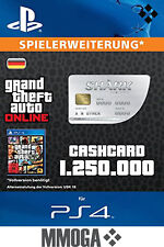 GTA 5 Grand Theft Auto V: Great White Shark Cash Card $1,250,000 - ps4-FR