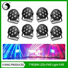U`King 8Pcs 35W Stage Lighting Rgbw Led Par Light Dmx Auto Dj Disco Party Show